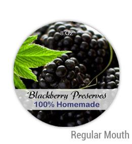 Blackberry Preserves Regular Mouth Ball Jar Topper Insert