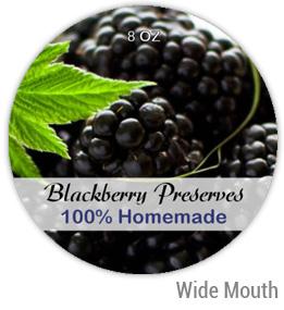 Blackberry Preserves Wide Mouth Ball Jar Topper Insert