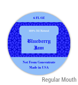 Blueberry Jam Regular Mouth Ball Jar Topper Insert