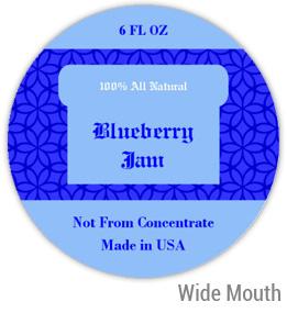 Blueberry Jam Wide Mouth Ball Jar Topper Insert