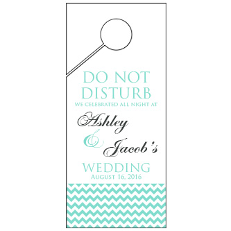 Bottom Chevron Wedding Door Hanger 4x9