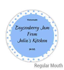 Boysenberry Jam Regular Mouth Ball Jar Topper Insert
