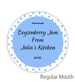 Boysenberry Jam Regular Mouth Ball Jar Topper Insert