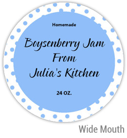 Boysenberry Jam Wide Mouth Ball Jar Topper Insert