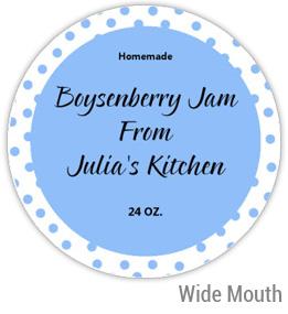 Boysenberry Jam Wide Mouth Ball Jar Topper Insert