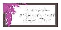 Caribbean Beach Address Wedding Labels