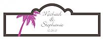 Caribbean Beach Billbord Cigar Band Wedding Labels