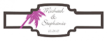 Caribbean Beach Buckle Cigar Band Wedding Labels