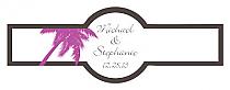 Caribbean Beach Cigar Band Wedding Labels