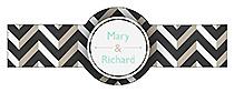Chalkboard Chevron Cigar Band Wedding Labels