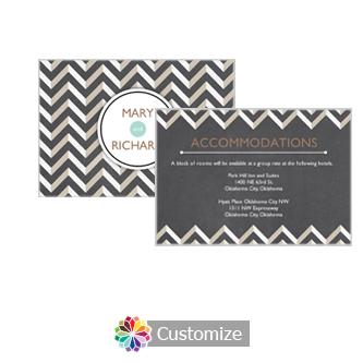 Chalkboard Chevron 5 x 3.5 Accommodations Enclosure Card