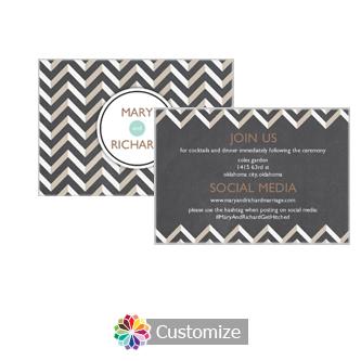 Chalkboard Chevron 5 x 3.5 Details Enclosure Card