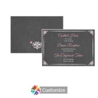 Eat-Drink-Be-Married Chalkboard 5 x 3.5 Details Enclosure Card