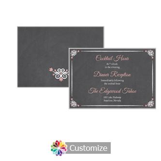 Eat-Drink-Be-Married Chalkboard 5 x 3.5 Details Enclosure Card