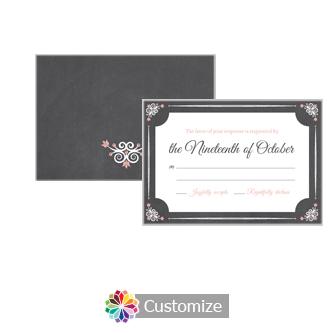 Eat-Drink-Be-Married Chalkboard 5 x 3.5 RSVP Enclosure Card - Reception