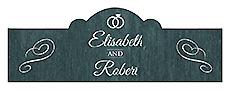 Chalkboard Rings Billbord Cigar Band Wedding Labels