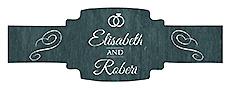 Chalkboard Rings Buckle Cigar Band Wedding Labels