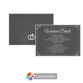 Rings of Love Chalkboard 5 x 3.5 Details Enclosure Card