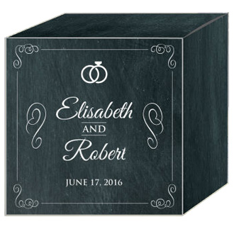 Chalkboard Rings Wedding Box Large