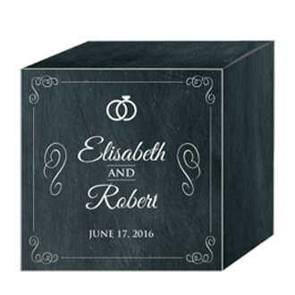Chalkboard Rings Wedding Box Medium