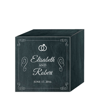 Chalkboard Rings Wedding Box Small