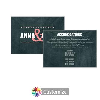 Romantic Photo Chalkboard 5 x 3.5 Accommodations Enclosure Card
