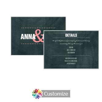Romantic Photo Chalkboard 5 x 3.5 Details Enclosure Card