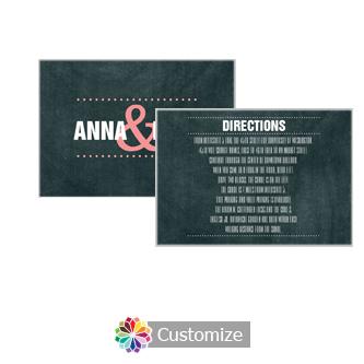 Romantic Photo Chalkboard 5 x 3.5 Directions Enclosure Card