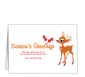 Christmas reindeer and rudolph business greeting cards customizable christmas baby rudolph seasons greetings cards 7875 x 550 m4hsunfo Gallery
