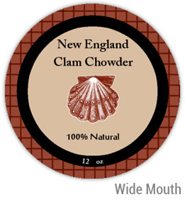 Clam Chowder Wide Mouth Ball Jar Topper Insert