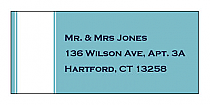Classic Address Wedding Labels