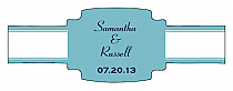 Classic Buckle Cigar Band Wedding Labels