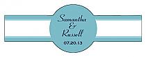 Classic Cigar Band Wedding Labels