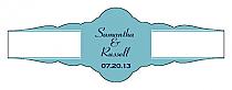 Classic Fancy Cigar Band Wedding Labels