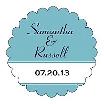Classic Scalloped Circle Wedding Labels
