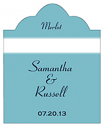 Classic Scalloped Vertical Big Rectangle Wedding Labels
