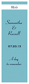 Classic  Vertical Tall Rectangle Wine Wedding Label