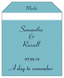 Classic Wine Wedding Label