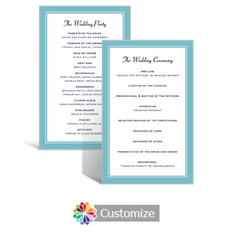 Classical 5 x 7.875 Flat Wedding Program