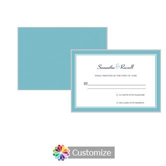 Classical 5 x 3.5 RSVP Enclosure Card - Reception