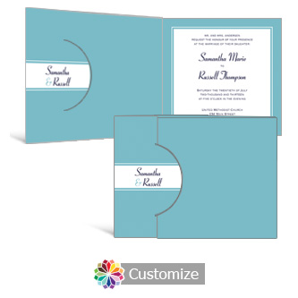 Classical 7.25 x 5.125 Folded Wedding Invitation