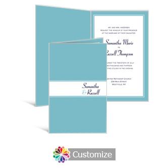 Classical 5 x 7.875 Half-Fold Wedding Invitation