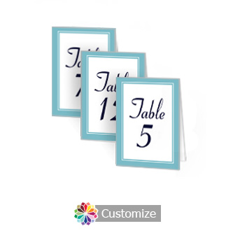 Classical 2.5 x 3.5 Folded Wedding Table Number