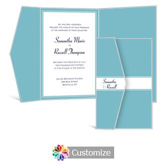 Classical 5  x 7.875 Double Folded Wedding Invitation
