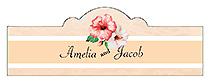 Coralbell Lace Billbord Cigar Band Wedding Label