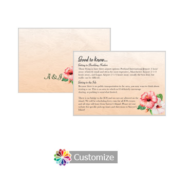 Floral Coralbell Lace 5 x 3.5 Accomodations Enclosure Card