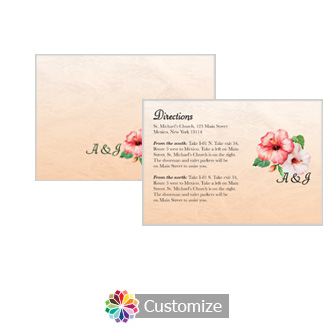 Floral Coralbell Lace 5 x 3.5 Directions Enclosure Card