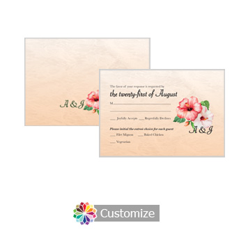 Floral Coralbell Lace 5 x 3.5 RSVP Enclosure Card - Dinner Choice