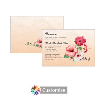 Floral Coralbell Lace 5 x 3.5 Details Enclosure Card