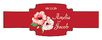 Coralbell Lace Wedding Buckle Cigar Band Labels
